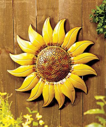 Metal Wall Art Sunflower Indoor Outdoor Home Decor With