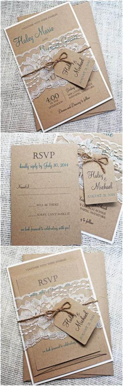 23 Ideas Wedding Invitations Simple Rustic Burlap For 2019 23 Ideas Wedding Invitations Simple Rustic Burlap For 2019