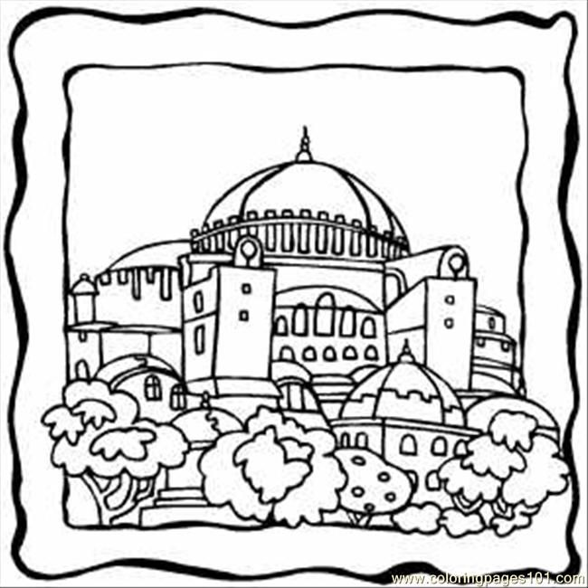 Line Drawing Jerusalem : Jerusalem building temple coloring page ms chiz s art