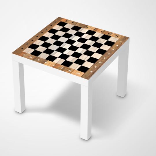 Möbelfolie IKEA Lack Tisch 55×55 cm – Design: Spieltisch Schach