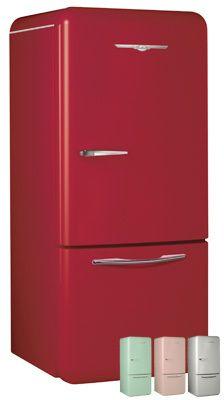 retro red refrigerator