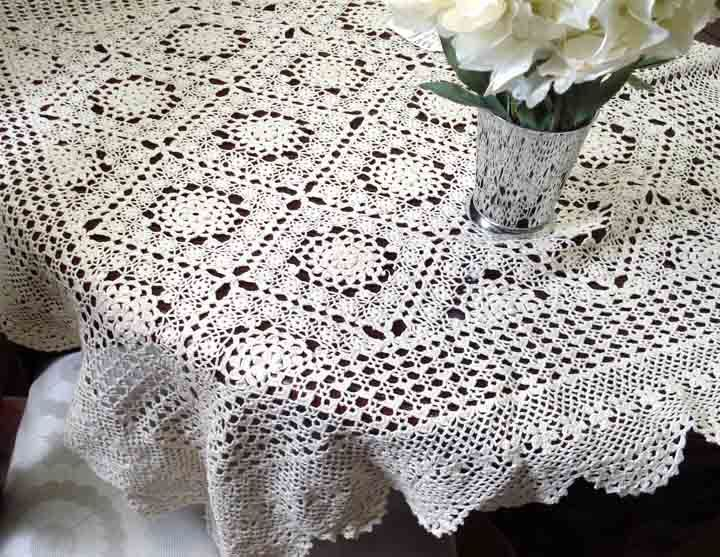 How To Crochet A Lace Tablecloth Step By Step Directions To Your