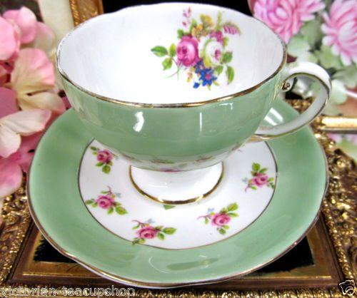 ROYAL-STANDARD-TEA-CUP-AND-SAUCER-LIME-GREEN-ROSES-PATTERN-TEACUP