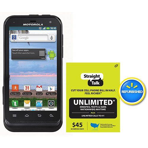 Straight Talk Motorola Defy XT555C Prepaid Cell Phone with