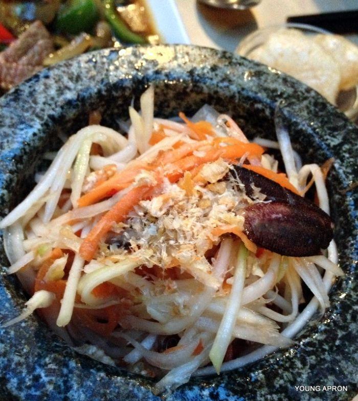 Papaya Salad - YOUNG APRON | Lao Lane Xang – Paris, FRANCE – Thai cuisine paradise