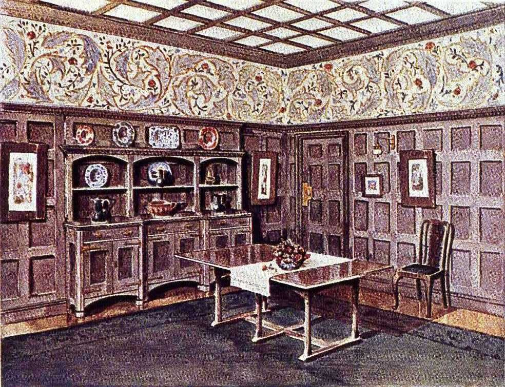 An Illustration Of A Morris Co Interior From 1900 With Images