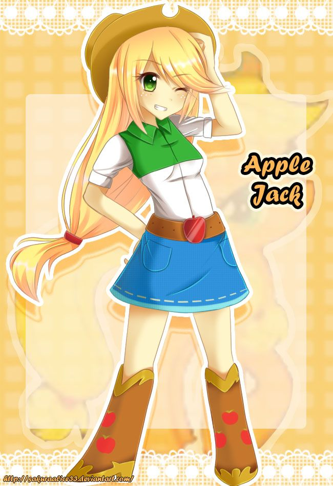 Equestria Girls Applejack By Sakuraalice33 Deviantart Com On