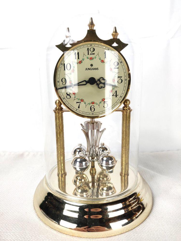 Junghans Quartz Anniversary Clock With Glass Dome Junghans Anniversary Clock Clock Glass Domes
