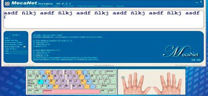 Mecanet Programa De Mecanografía Gratis última Versión Oficial Aprender A Escribir Programa Para Escribir Teclado Del Ordenador