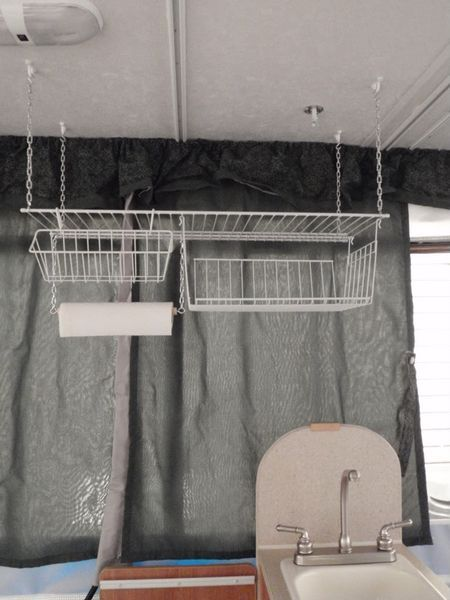 Mobile Shelf Space With A Diy Rv Hanging Pantry Diy