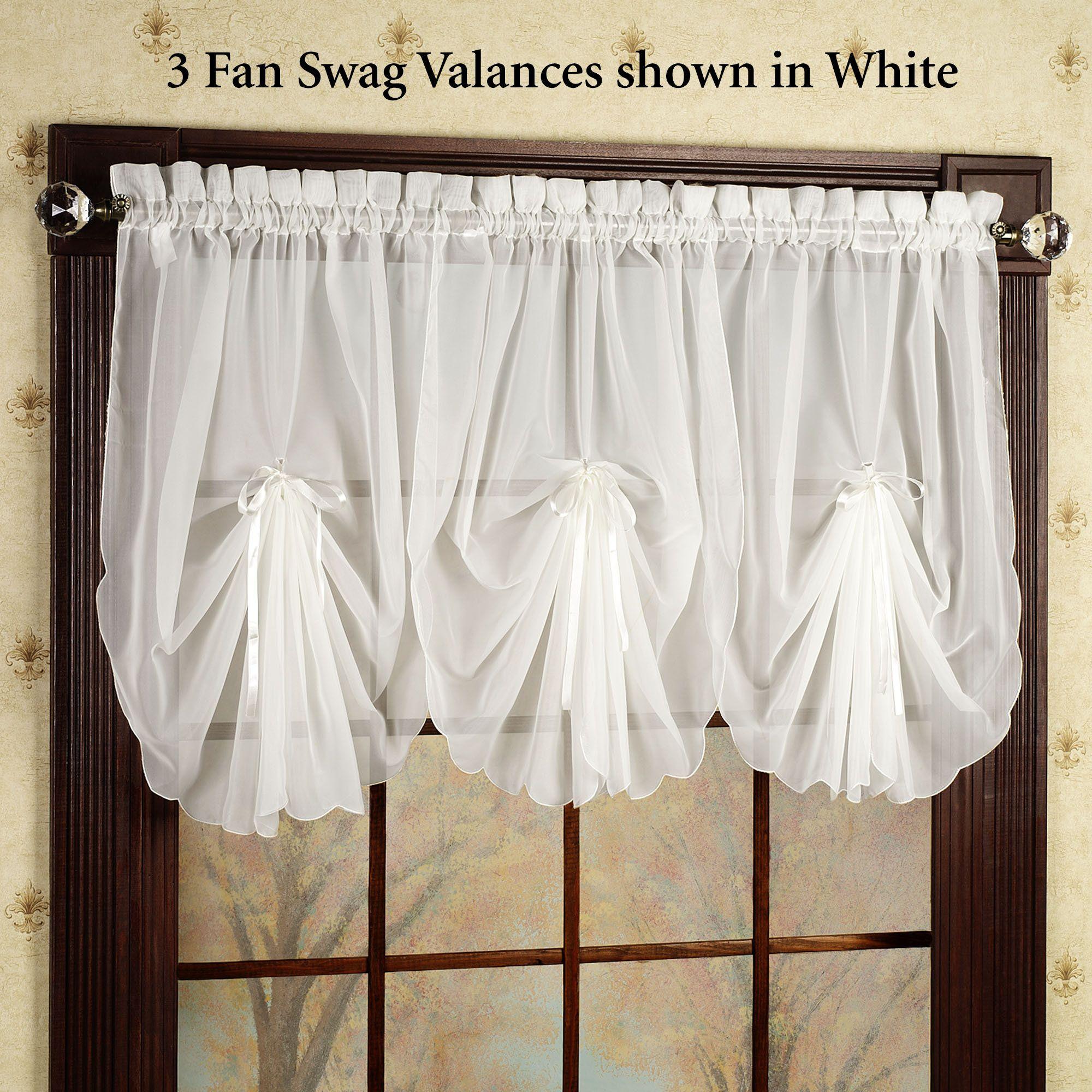 Emelia Sheer Fan Swag Valances Curtains Valance Bedroom Valances