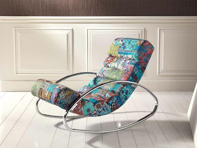 Sedie A Dondolo Depoca : Sedia a dondolo patchwork arredissima decor