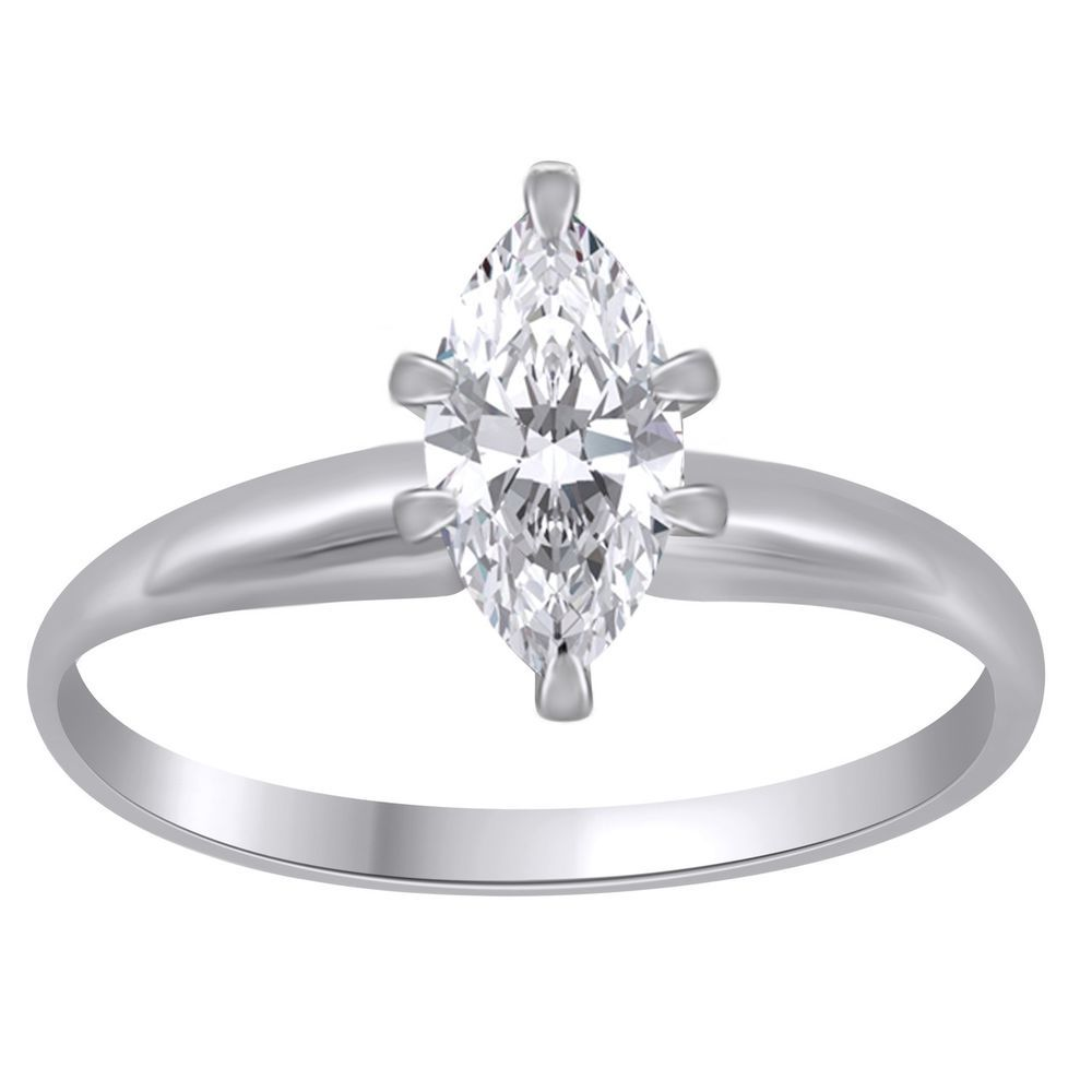 2 Ct Marquise Cut Solitaire Engagement Wedding Promise Ring Sterling Silver JS20 #jewelryauctionhouse #SolitaireRing