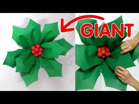 Christmas Paper Craft How To Make Large Holly Berries With Leaves Creativitywind Paper Christmas Decorations Large Christmas Decorations Diy Christmas Art