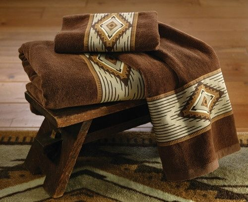 Southwestern Decor Brown Southwest Bath Towel Set