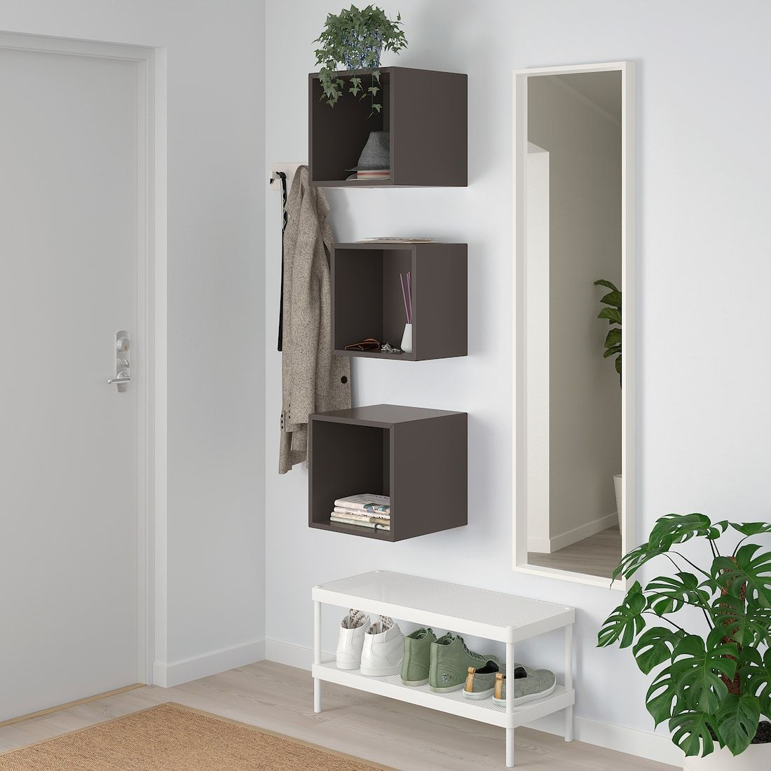 Eket Wall Mounted Cabinet Combination Dark Gray Length 27 Order Here Ikea Wall Mounted Cabinet Eket Ikea Eket