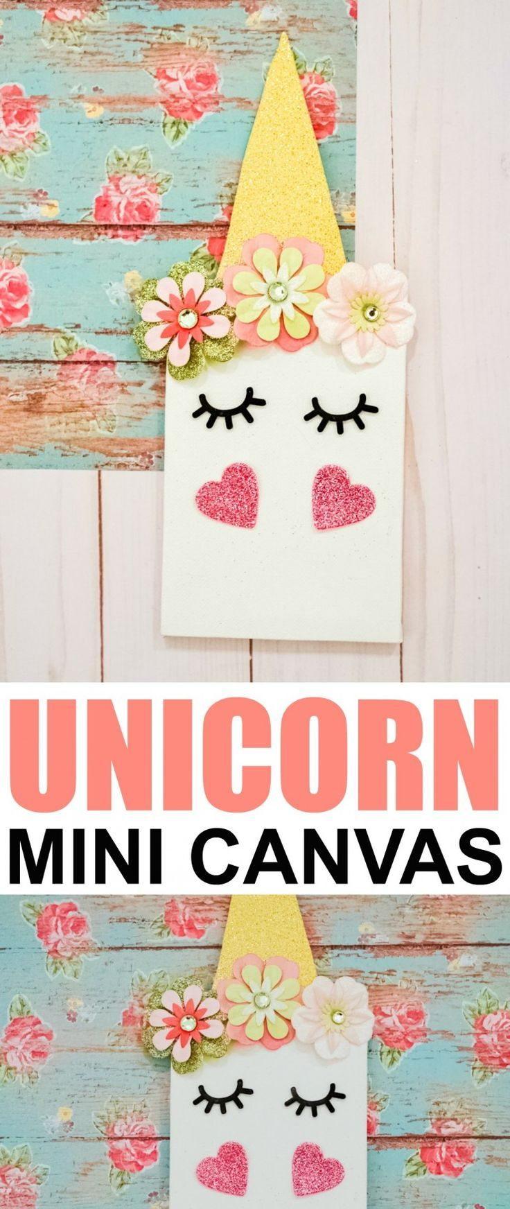 DIY Unicorn Mini Canvas Crafts, Arts and crafts for kids