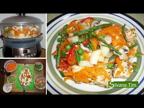 Receta De Pollo Con Vegetales En Vaporera Youtube