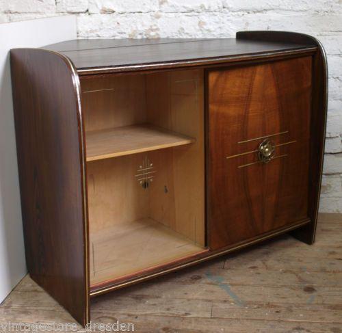 kult 50er 60er jahre kommode sidebord mid century eckschrank tv schrank tisch ebay. Black Bedroom Furniture Sets. Home Design Ideas