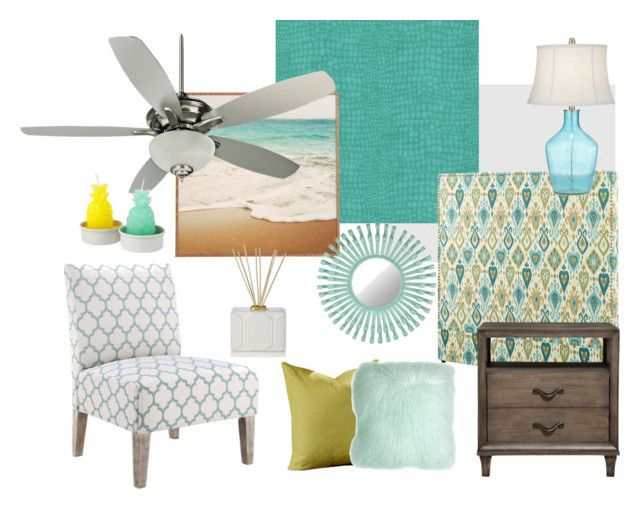 """""""Florida Vacation Home"""" by modern-glam-designs on Polyvore featuring interior, interiors, interior design, home, home decor, interior decorating, Craftmade, Pacific Coast, Florence Broadhurst and Safavieh"""