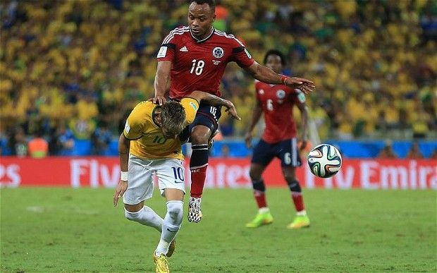 Neymar Is Injured And Out Of The World Cup But Don T Suspend Colombia S Juan Zuniga Says Jose Mourinho Neymar Jose Mourinho Juan Zuniga