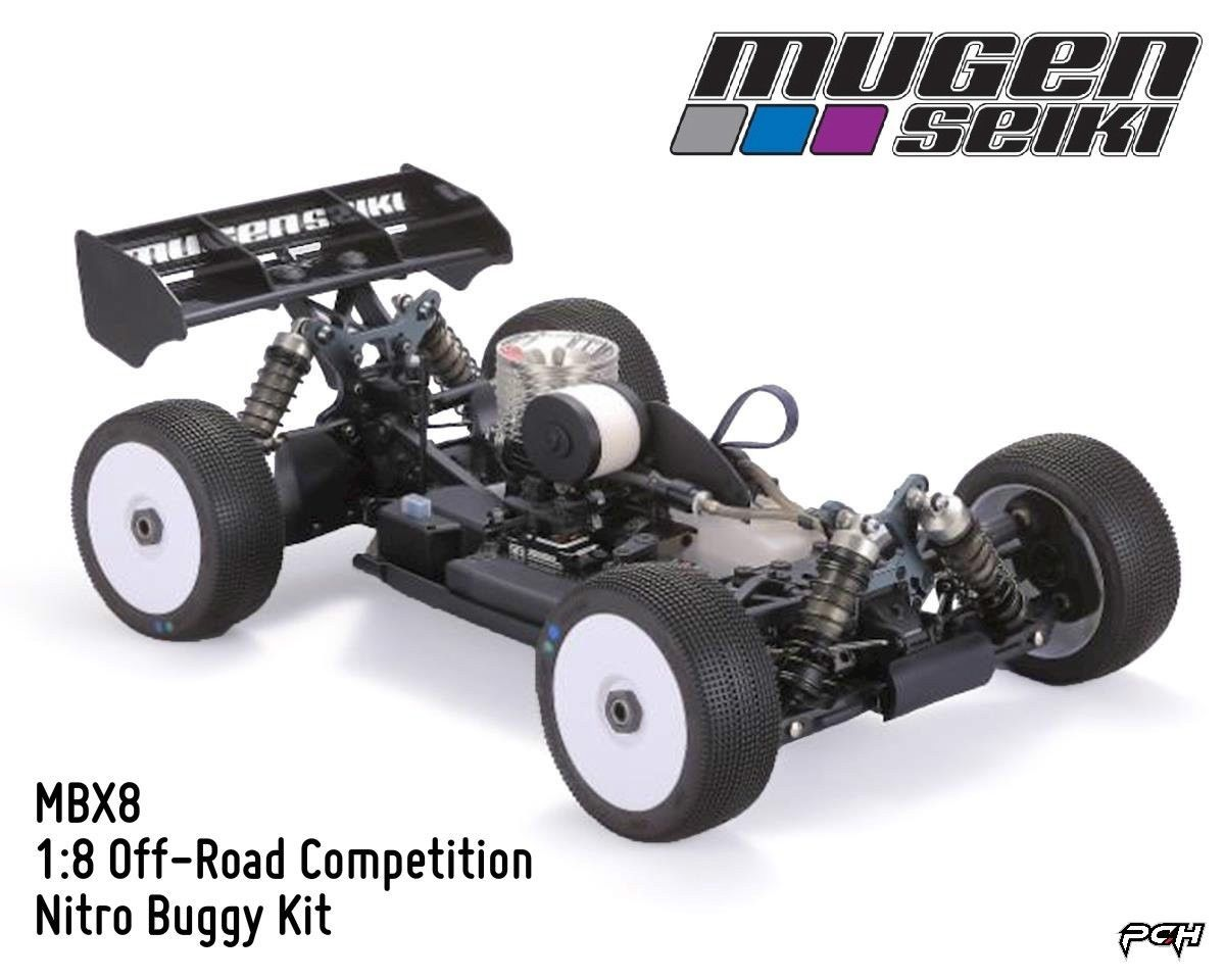 Mugen Seiki 1:8 MBX8 Off-Road Competition Nitro Buggy Kit MUGE2021 ...