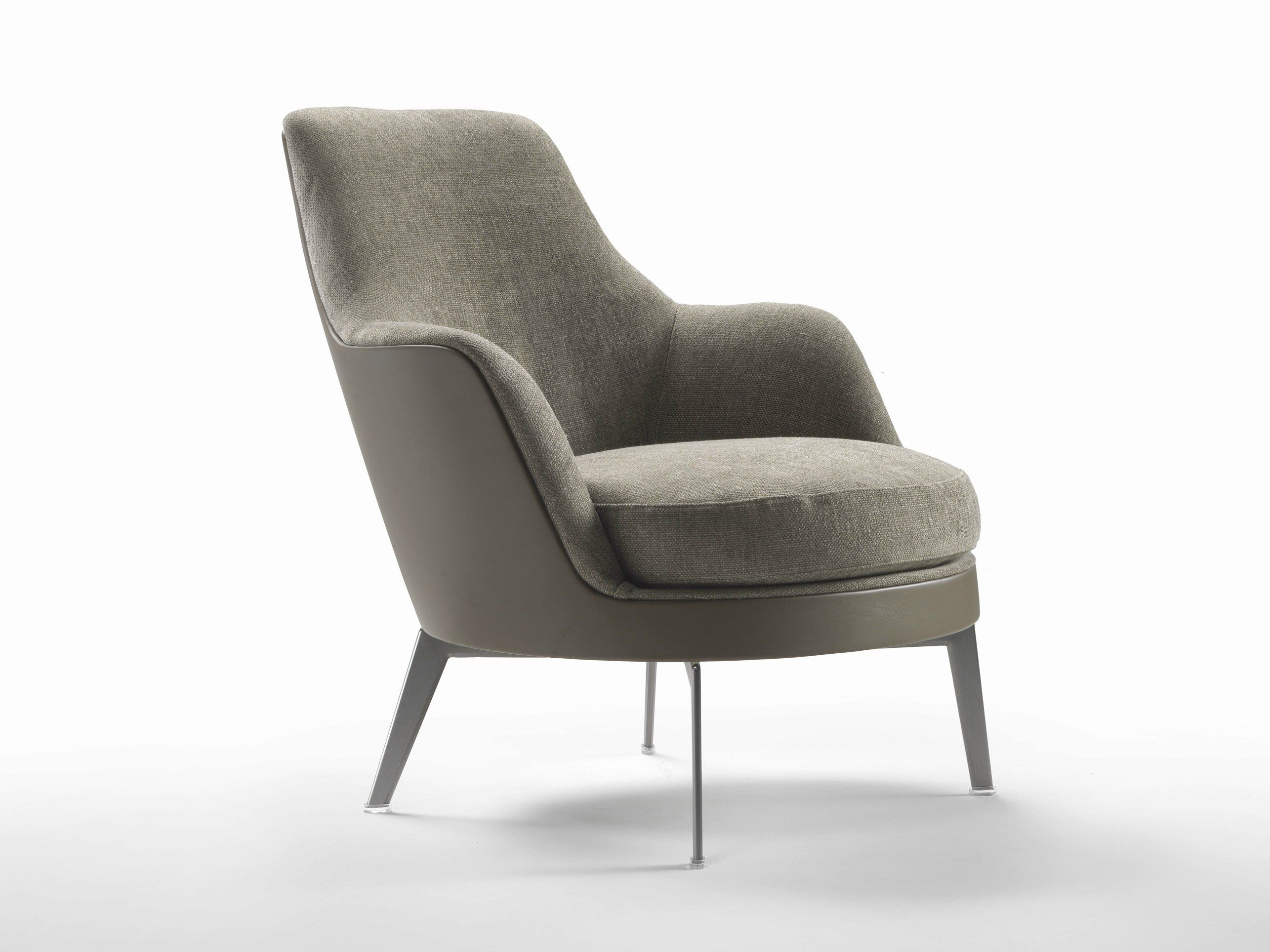 Sedie Flexform ~ Upholstered fabric armchair with armrests guscio soft guscio