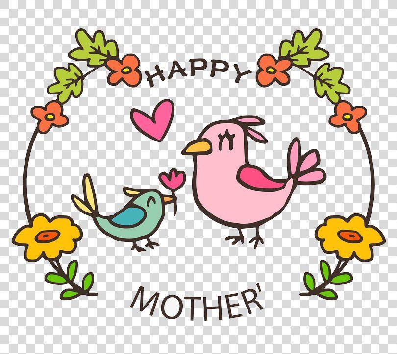 Mothers Day T Shirt Gift Clip Art Cartoon Bird Mother And Bird Png Mothers Day Area Art Artwor Cartoon Birds Mothers Day T Shirts Mothers Day Cards Craft