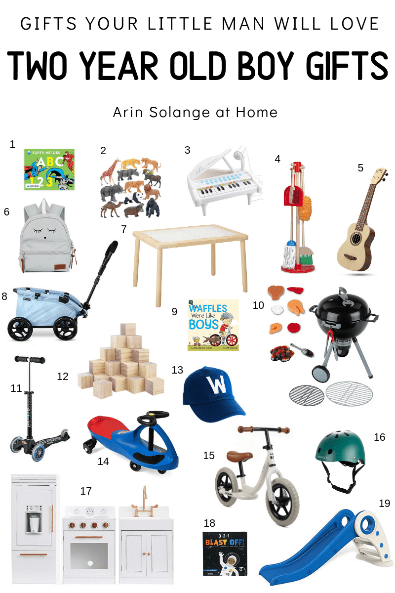 Two Year Old Boy Gift Guide Toddler boy gifts, Toddler