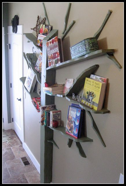 INSPIRATION  Tree Bookshelf by Shawn Soh As soon as I seen this bookshelf... I know I wanted it!! This one is made from metal and is $2800 ...