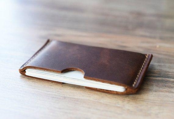 Leder Kartenhülle Fronttasche Brieftasche Trauzeugen