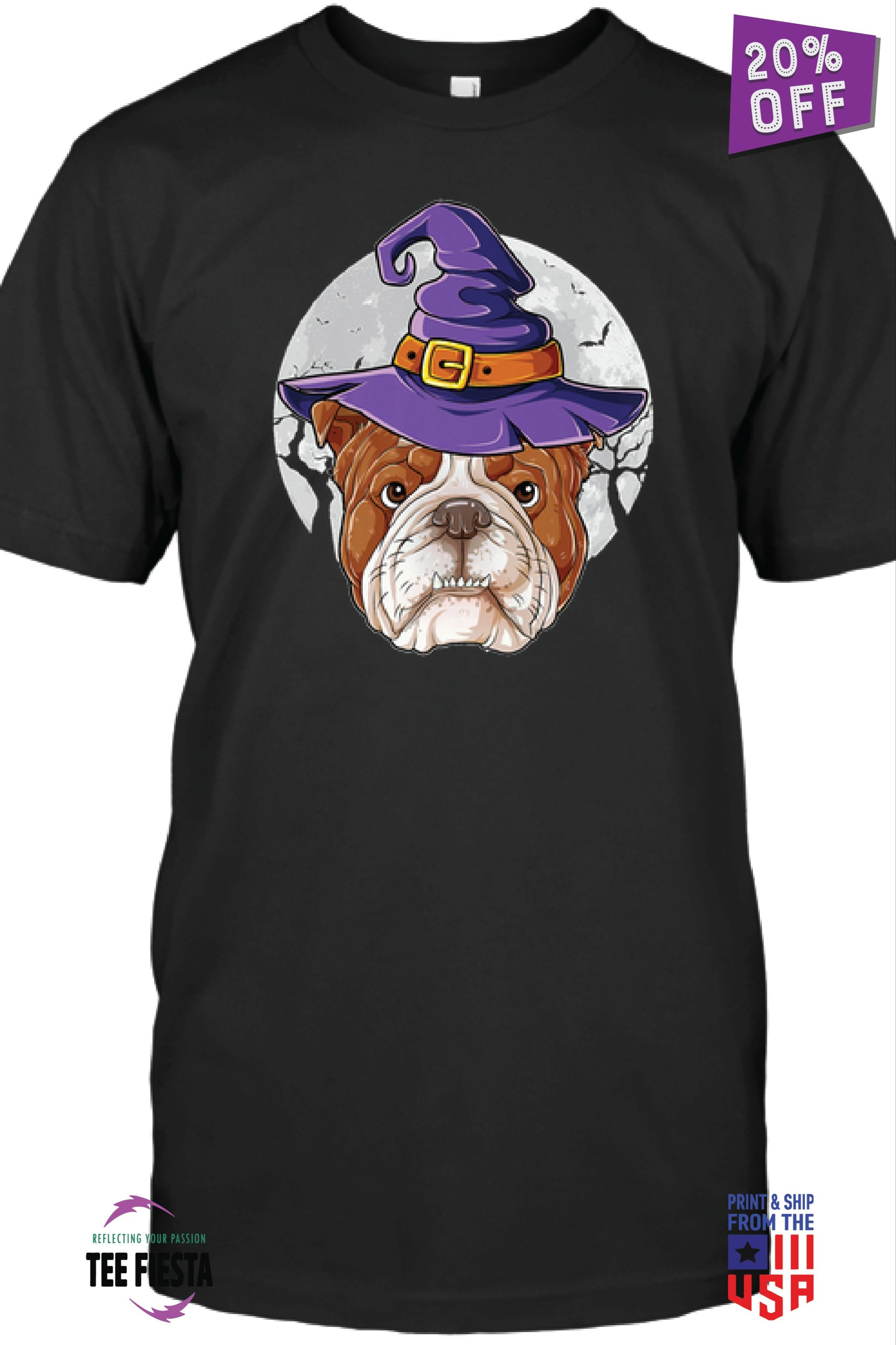 ENGLISH BULLDOG WITCH FUNNY HALLOWEEN TEES | GET 20% OFF | LIMITED TIME OFFER #funnybulldog
