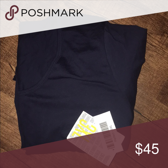 LuLaRoe Perfect Tee Navy Blue Brand New Tags still attached the perfect Tee is very flattering color Navy Blue size 3XL I will sell or trade for smaller size LuLaRoe Tops Tees - Short Sleeve