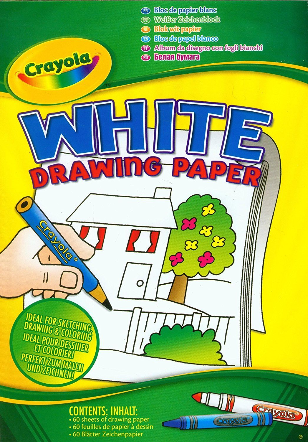 Crayola a4 white drawing paper 60 sheets amazoncouk