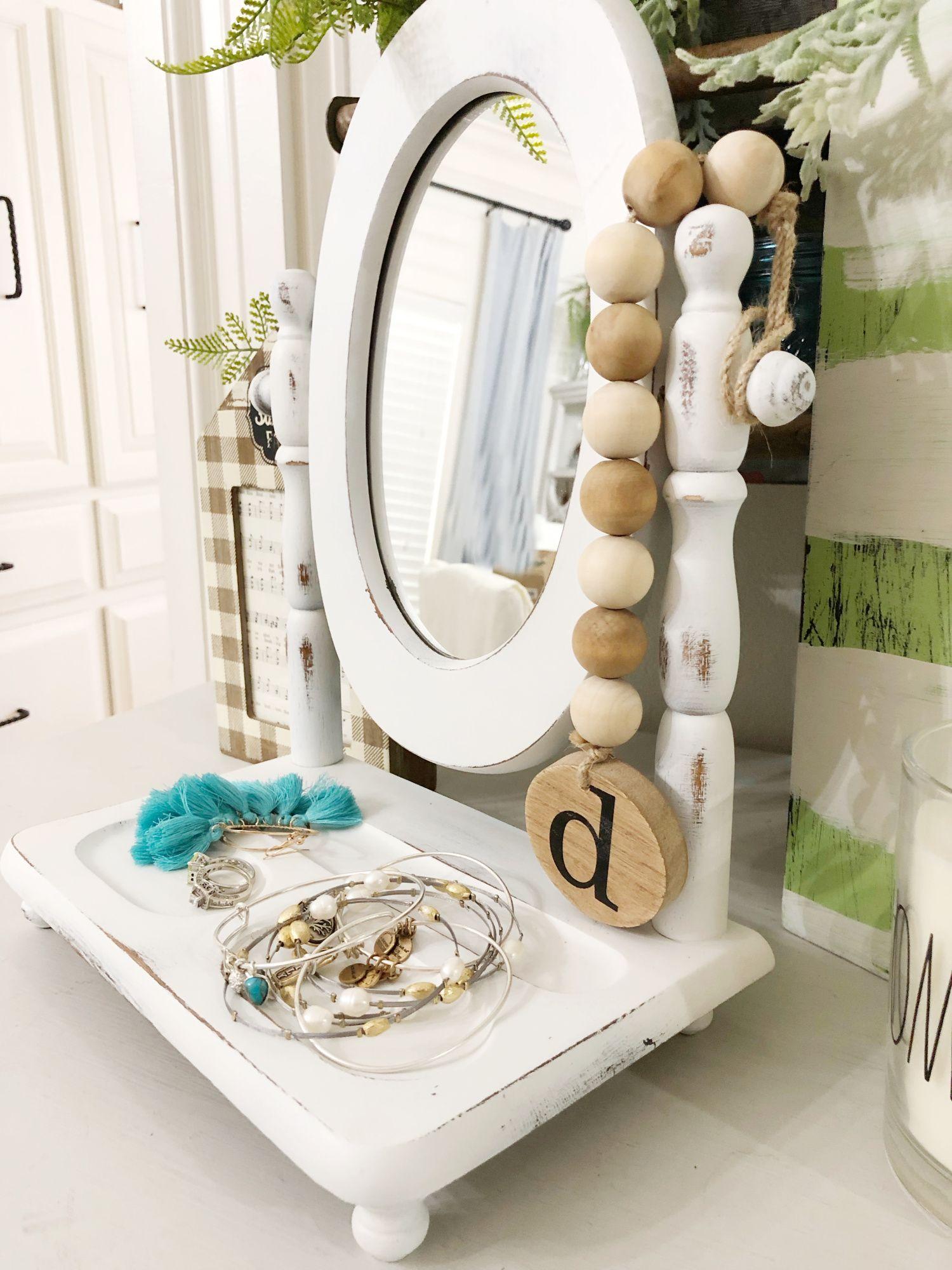 Table Top Valet Mirror Makeover In 2020 Mirror Makeover Diy