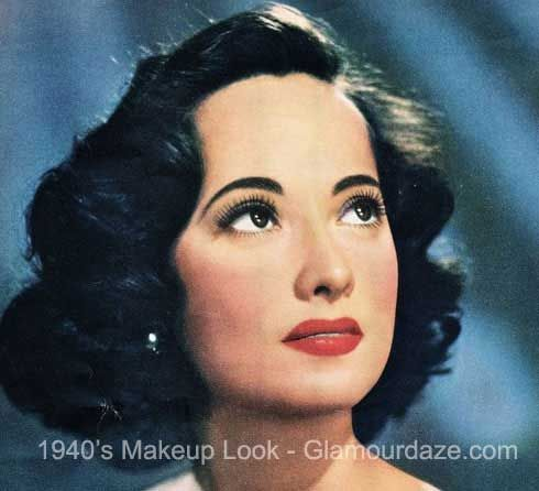 merle oberon 1940s makeup look hair pinterest ann es 40 maquillage et annee. Black Bedroom Furniture Sets. Home Design Ideas
