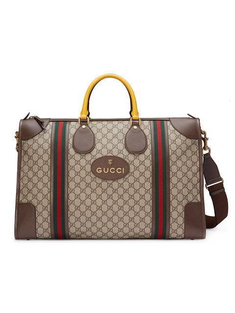 154a7512108b GUCCI Soft GG Supreme duffle bag with Web. #gucci #bags #leather #lining  #shoulder bags #linen #hand bags #nylon #cotton #