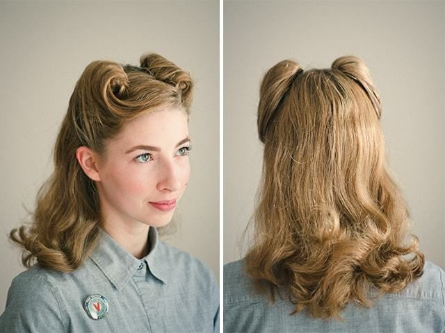 Victory Rolls Hairstyles From 1940s 2 Min 1940s Hairstyles 1940s Hairstyles For Long Hair Vintage Hairstyles