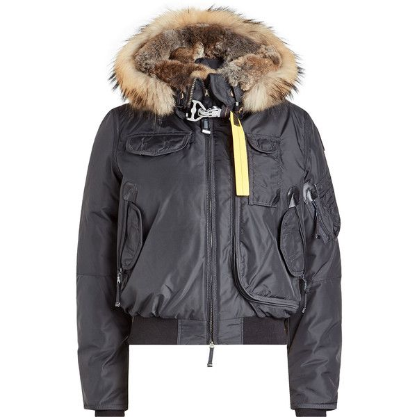 Parajumpers Gobi Down Bomber Jacket (£505) ❤ liked on Polyvore featuring outerwear,