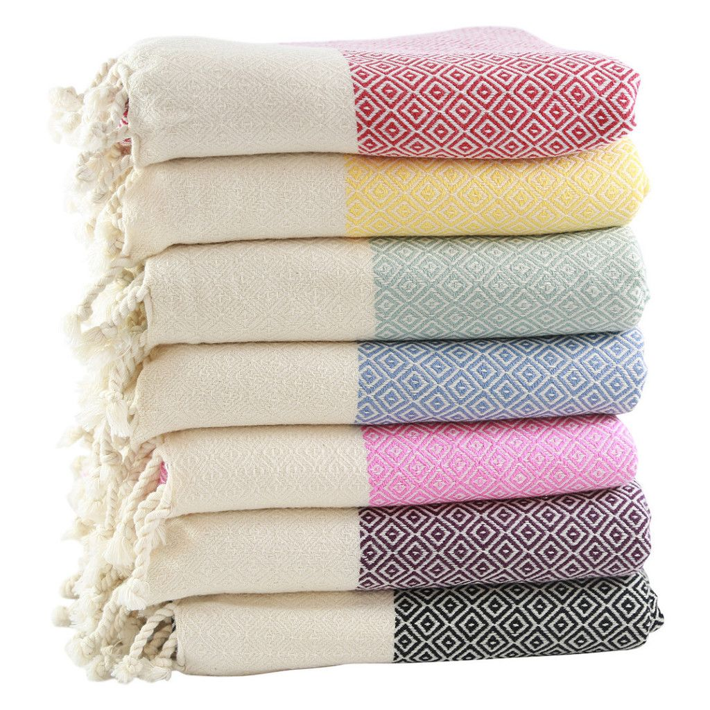 100 Gots Certified Organic Cotton Towel Handmade In Turkey With A