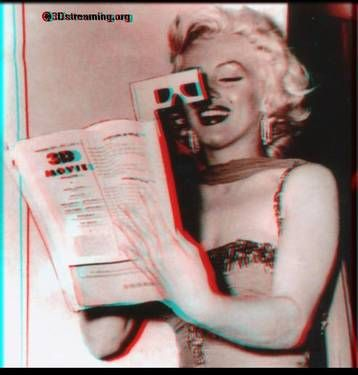 3d Images Marilyn Monroe Anaglyph 06 Marilyn Monroe Image Photography Fun At Work