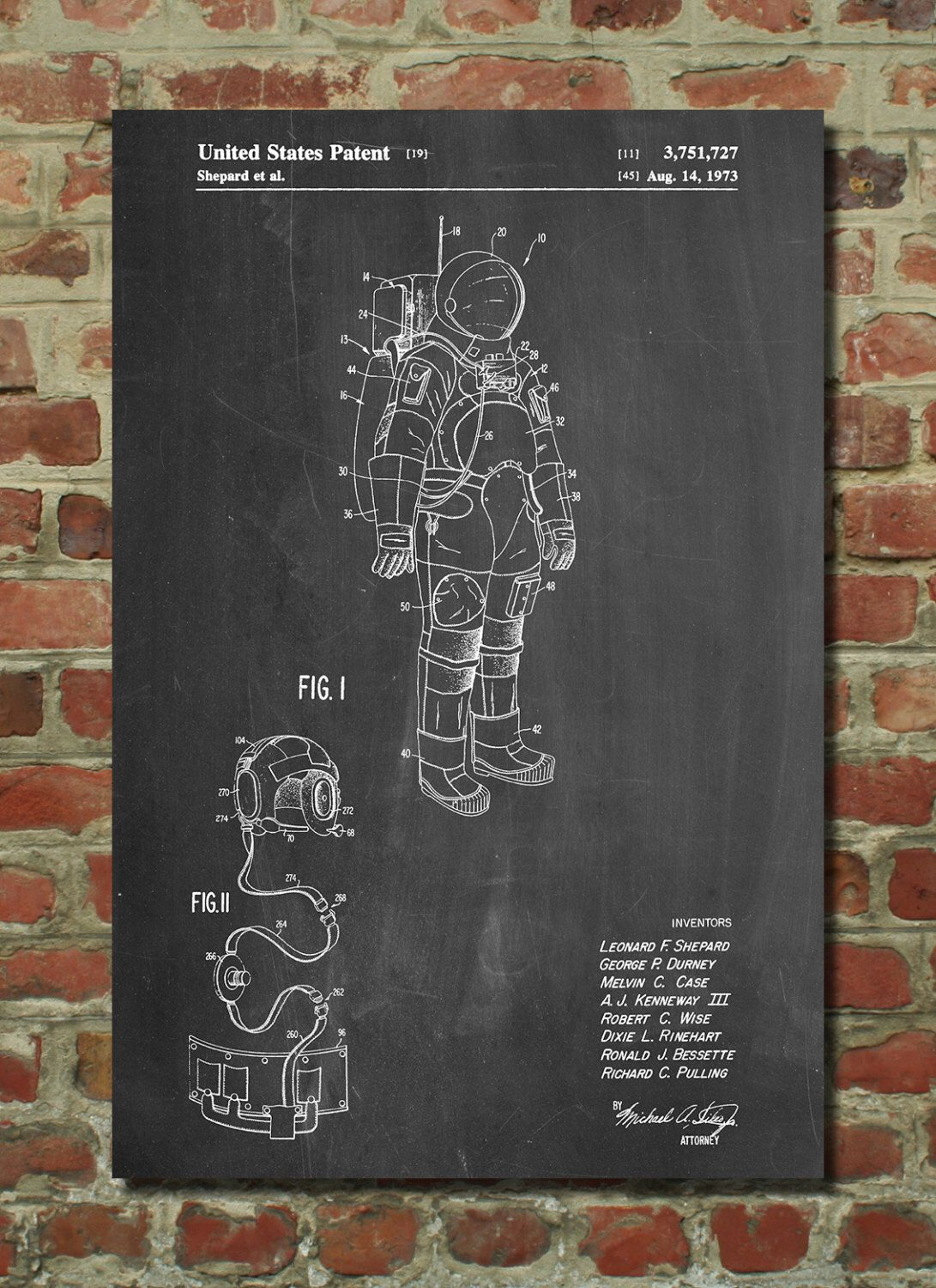 apollo space suit patent poster outer space nasa print. Black Bedroom Furniture Sets. Home Design Ideas