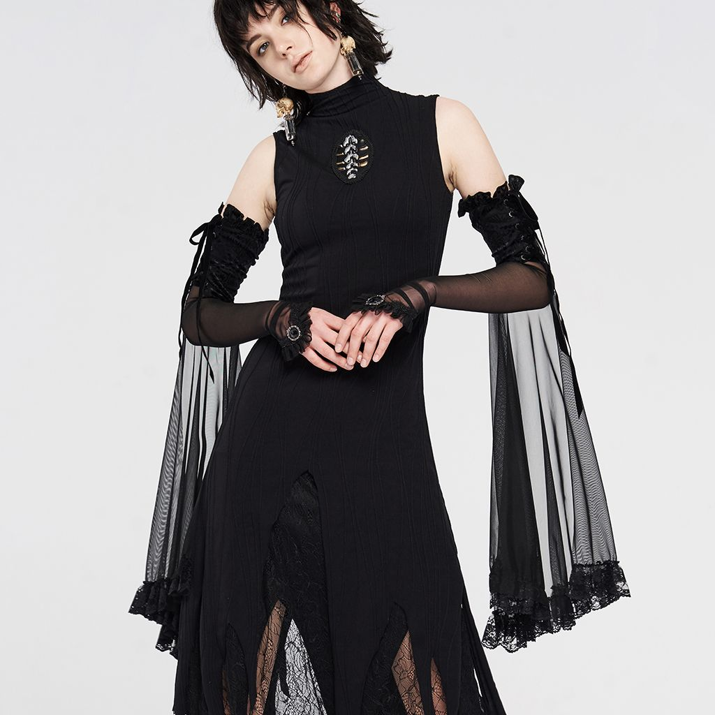 Black Gothic Lace Flared Long Gloves In 2021 Long Gloves With Dress Gloves With Dress Long Gloves [ 1024 x 1024 Pixel ]