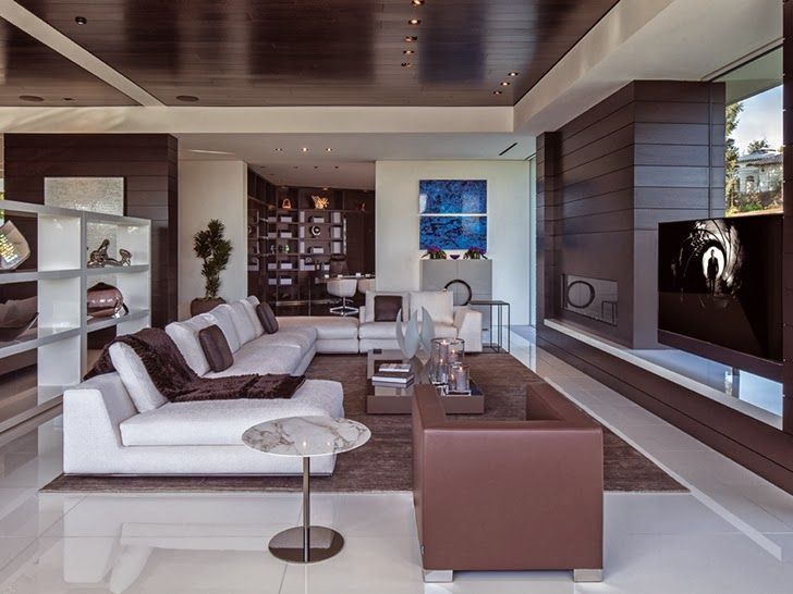 Attractive Living Room Tv · 1201 Laurel Way Cliff View Luxurious Modern Mansions In Beverly  Hills California [ Read More Part 29