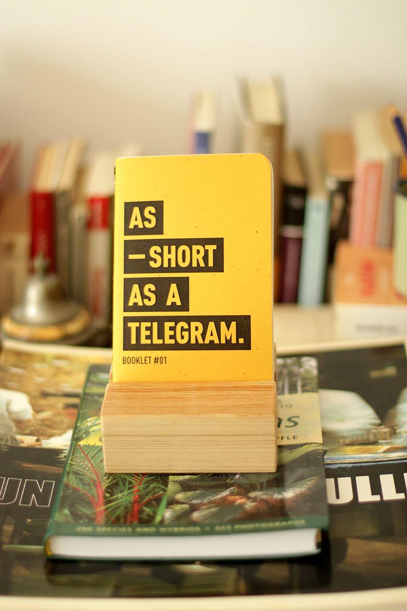 BOOKLET #1 > AS SHORT AS A TELEGRAM. Ideal para notas rápidas ...