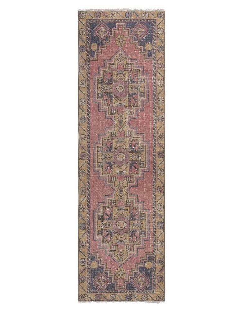 Rug Runner 10 Vintage Turkish Carpet Low Pile Blue Beige Coral Red Rugs Handmade Traditionalpersianoriental Turkish Carpet Coral Rug Buying Carpet