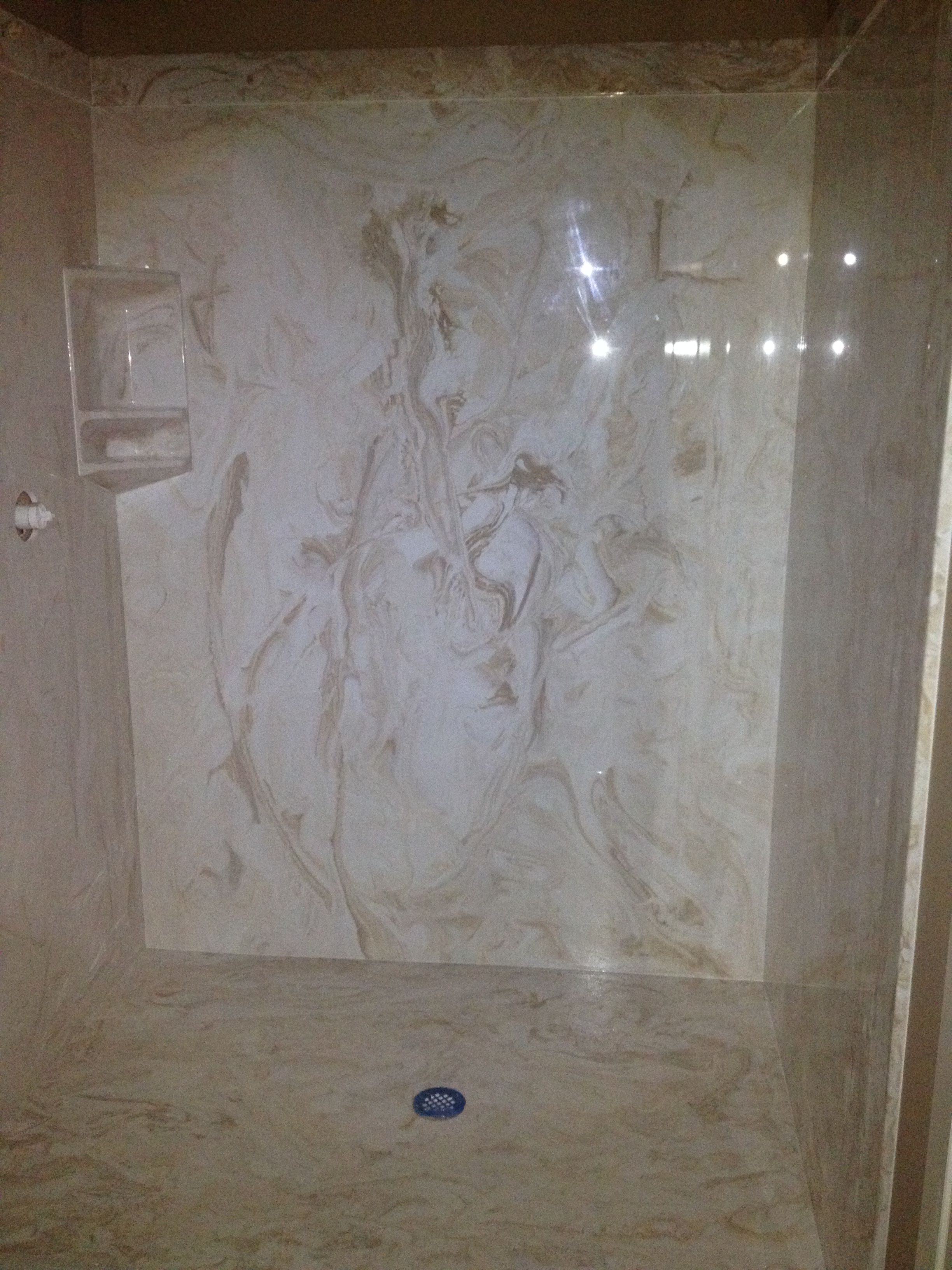 Cultured Marble Shower Color Is Mexican Sand With Images