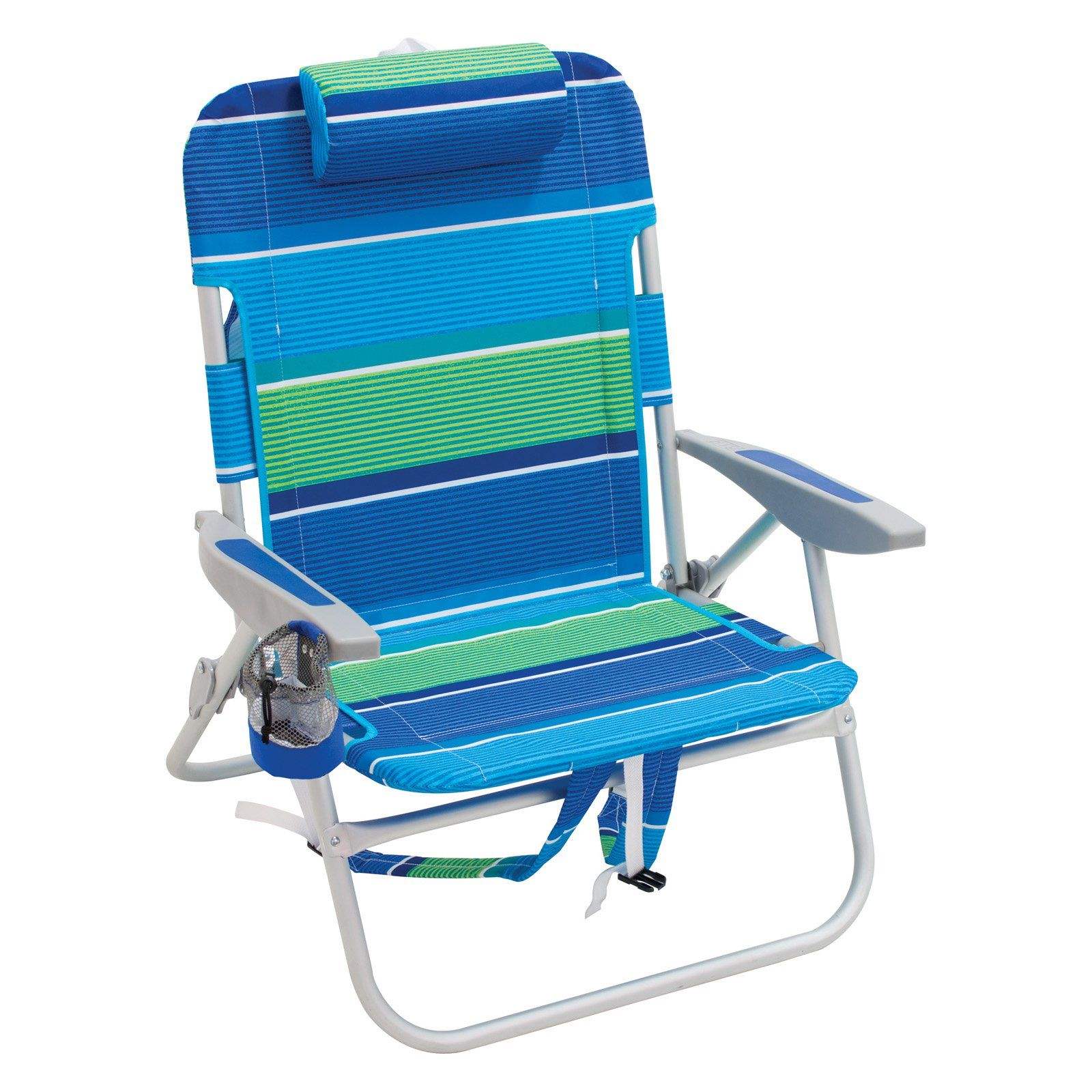 Outdoor Rio Extra Wide Backpack Beach Chair Global Stripe