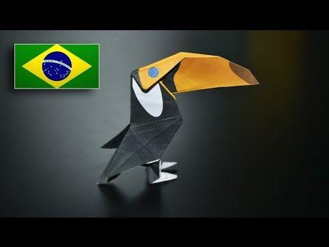 Origami: Tucano - Instruções em Português PT BR - YouTube