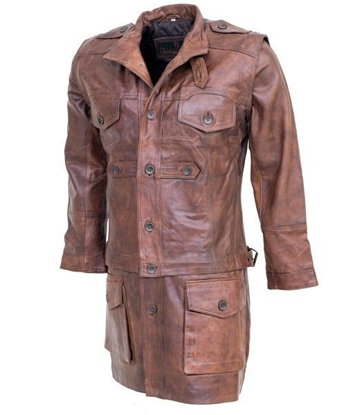 Convertible Brown Leather Jacket 3in1 | Leather Jacket US ...